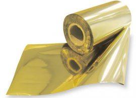 Lamináló fólia / metál transzfer / 320mmx300m / Világos Arany, Bronz Arany, Rózsa Arany, Ezüst